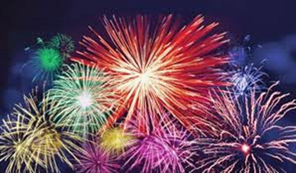 Foto eines Feuerwerk