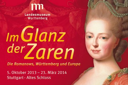 Plakat der Ausstellung Im Glanz der Zaren