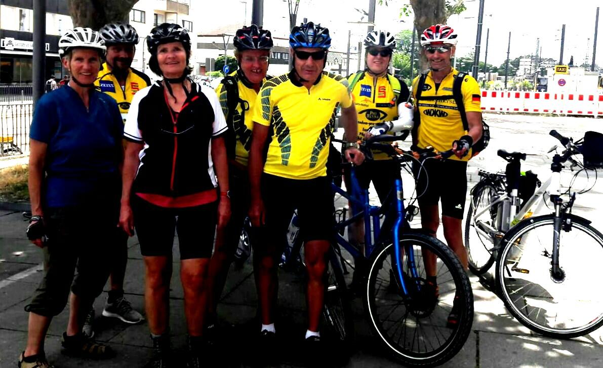Foto der 7 Teilnehmer in Heilbronn